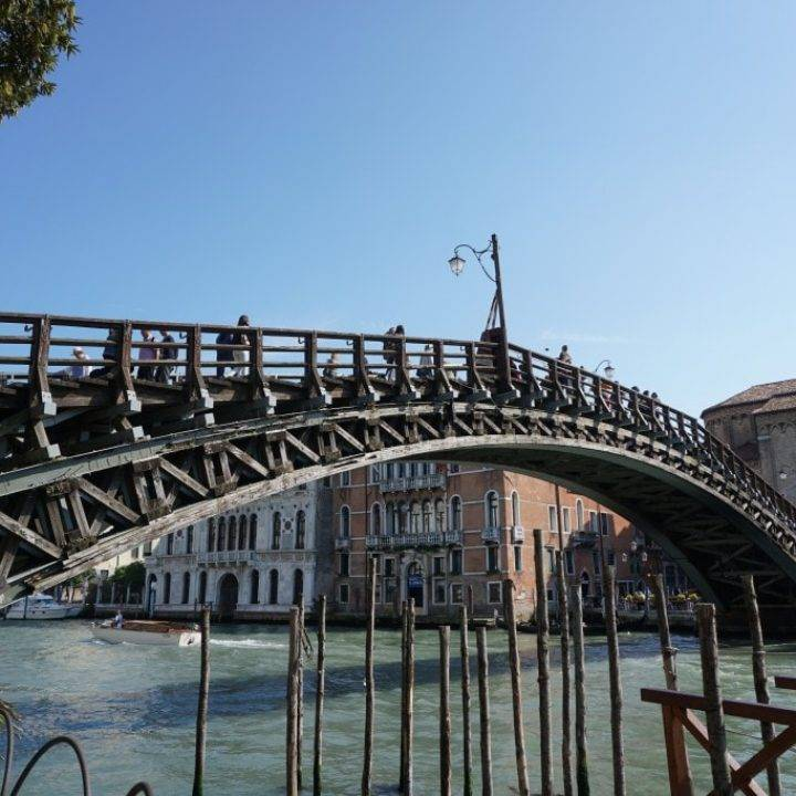 The Accademia Bridge along Venice's Grand Canal