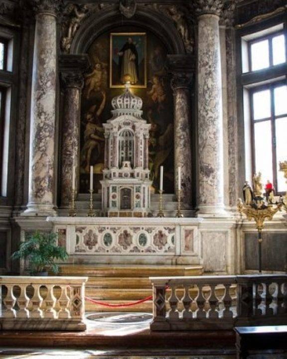 easter church service in venice