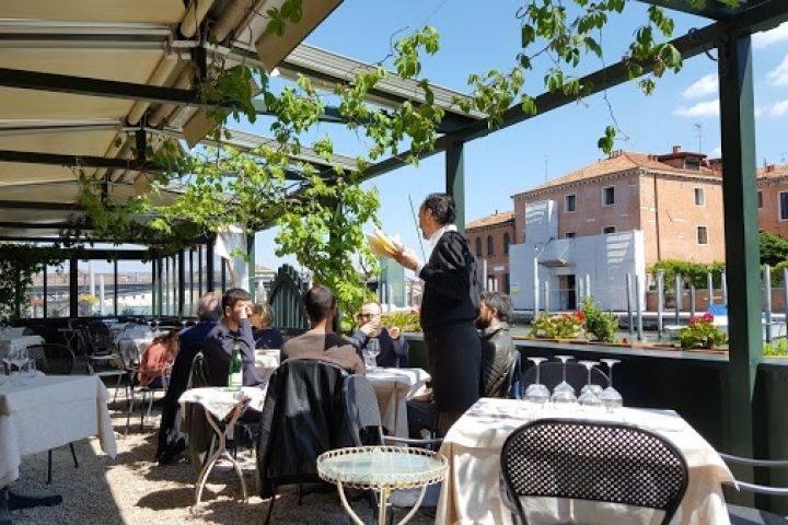 Outside dining Altanella Restaurant Venice