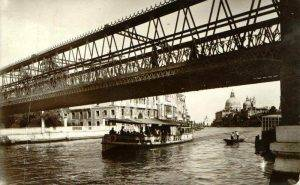 The first Accademia bridge in Venice Italy
