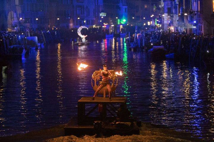 Carnival Opening At Canaregio Canal - Venice Carnival 2019