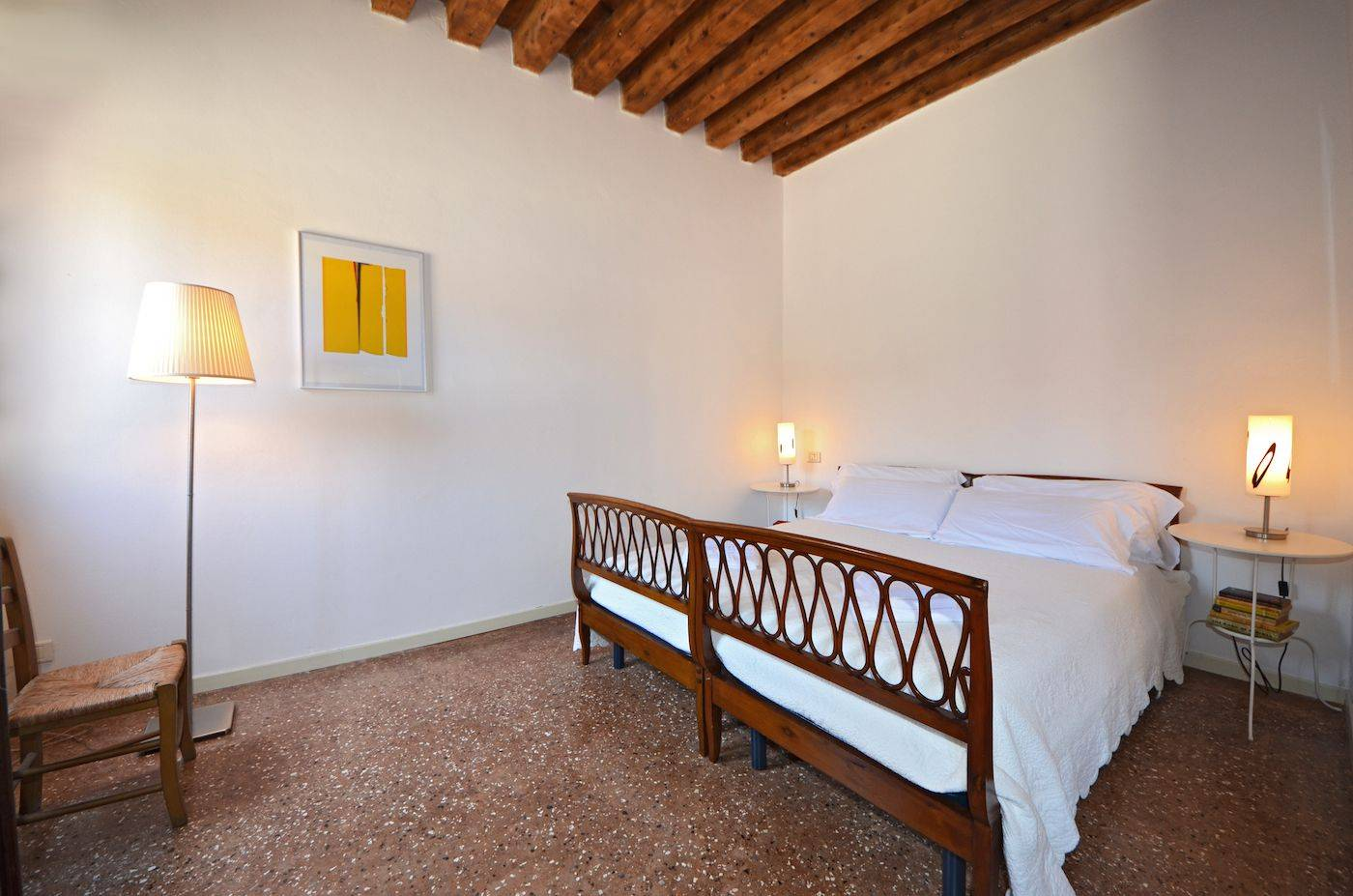 the bedroom is spacious and can be used as double or twin