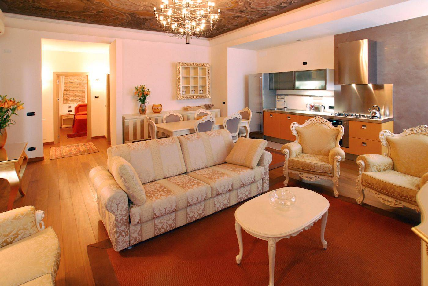 prestigious living room of the Giorgione Apartment