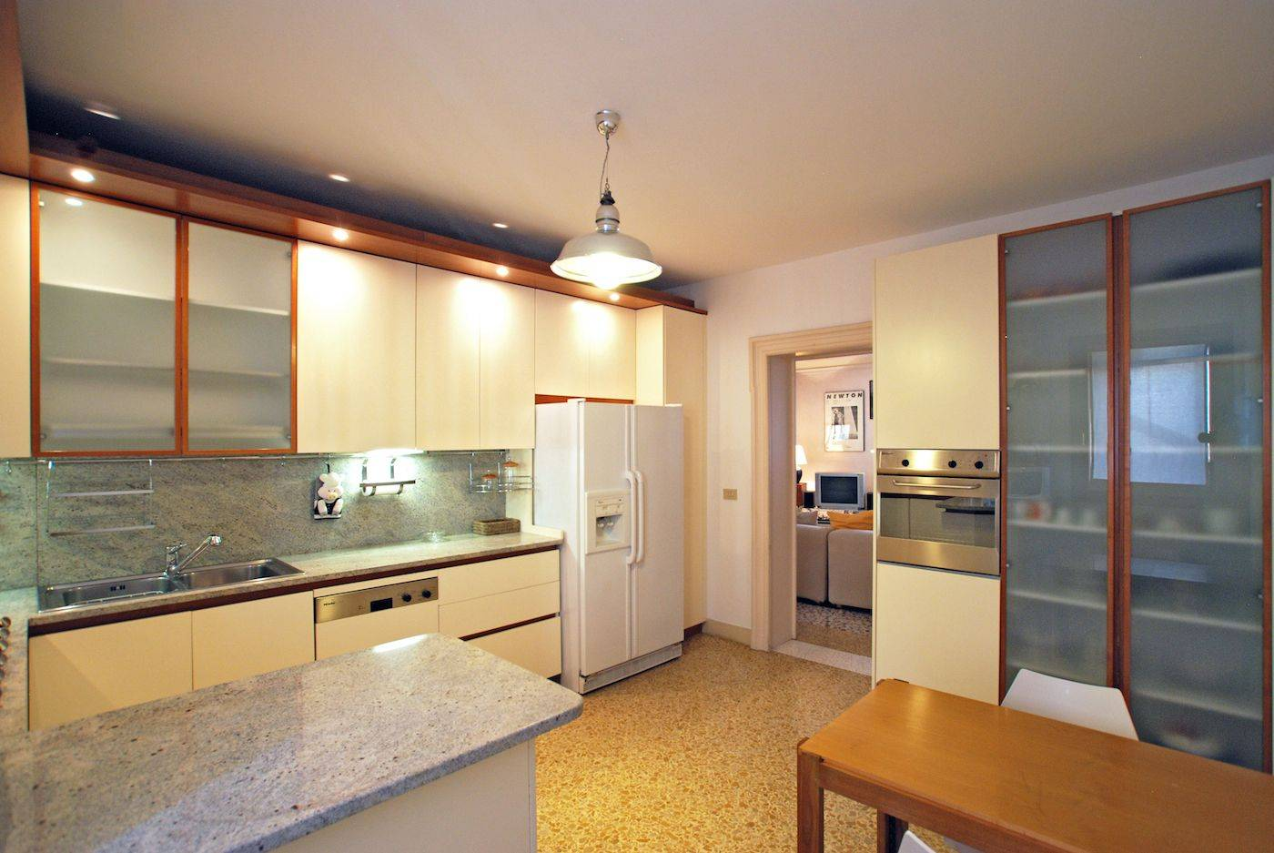 spacious kitchen with every possible amenity
