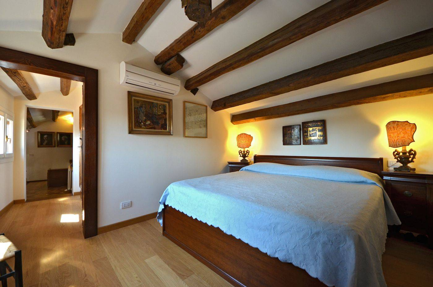 double bedroom at the upper level