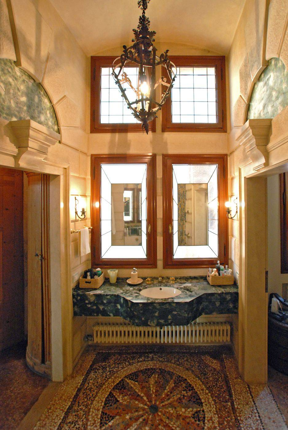 the master bedroom bathroom