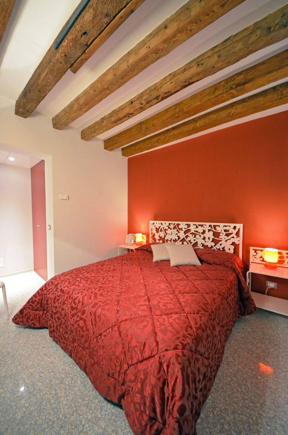 second bedroom of the Palladio Garden apartment