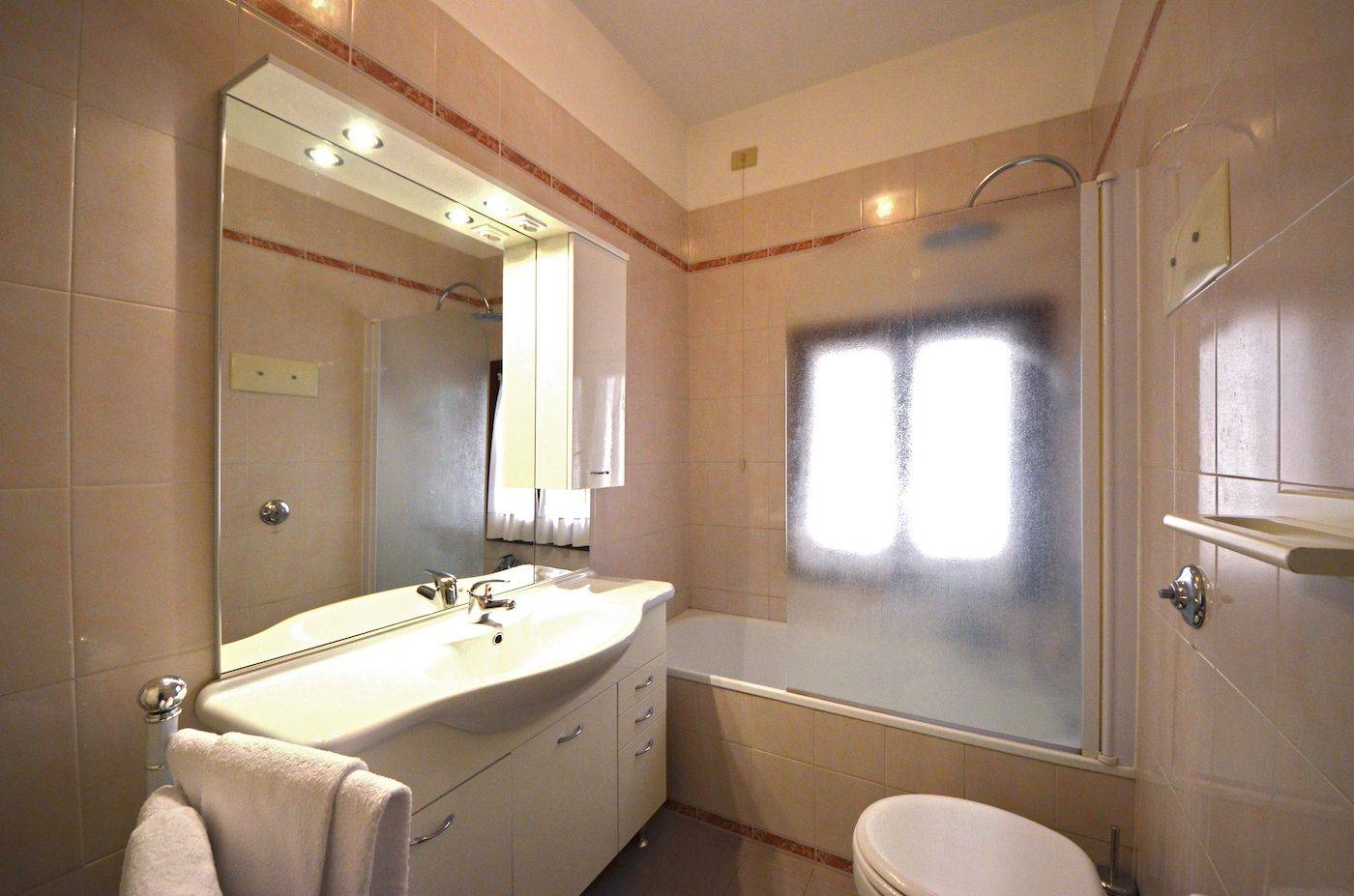 bathroom with baththub and shower