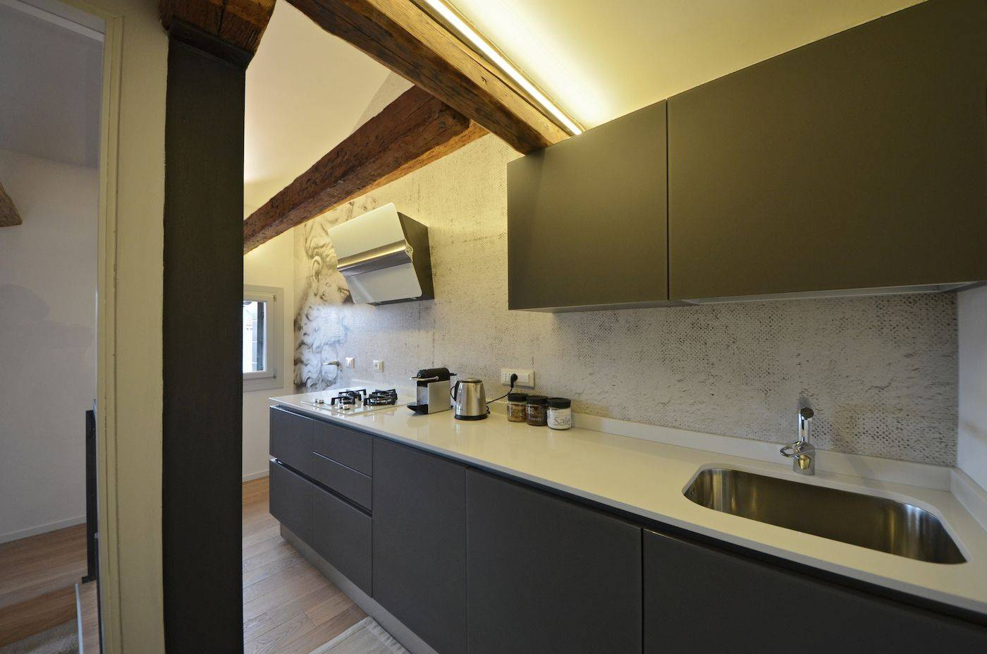 the stylish and well equipped kitchen is really functional