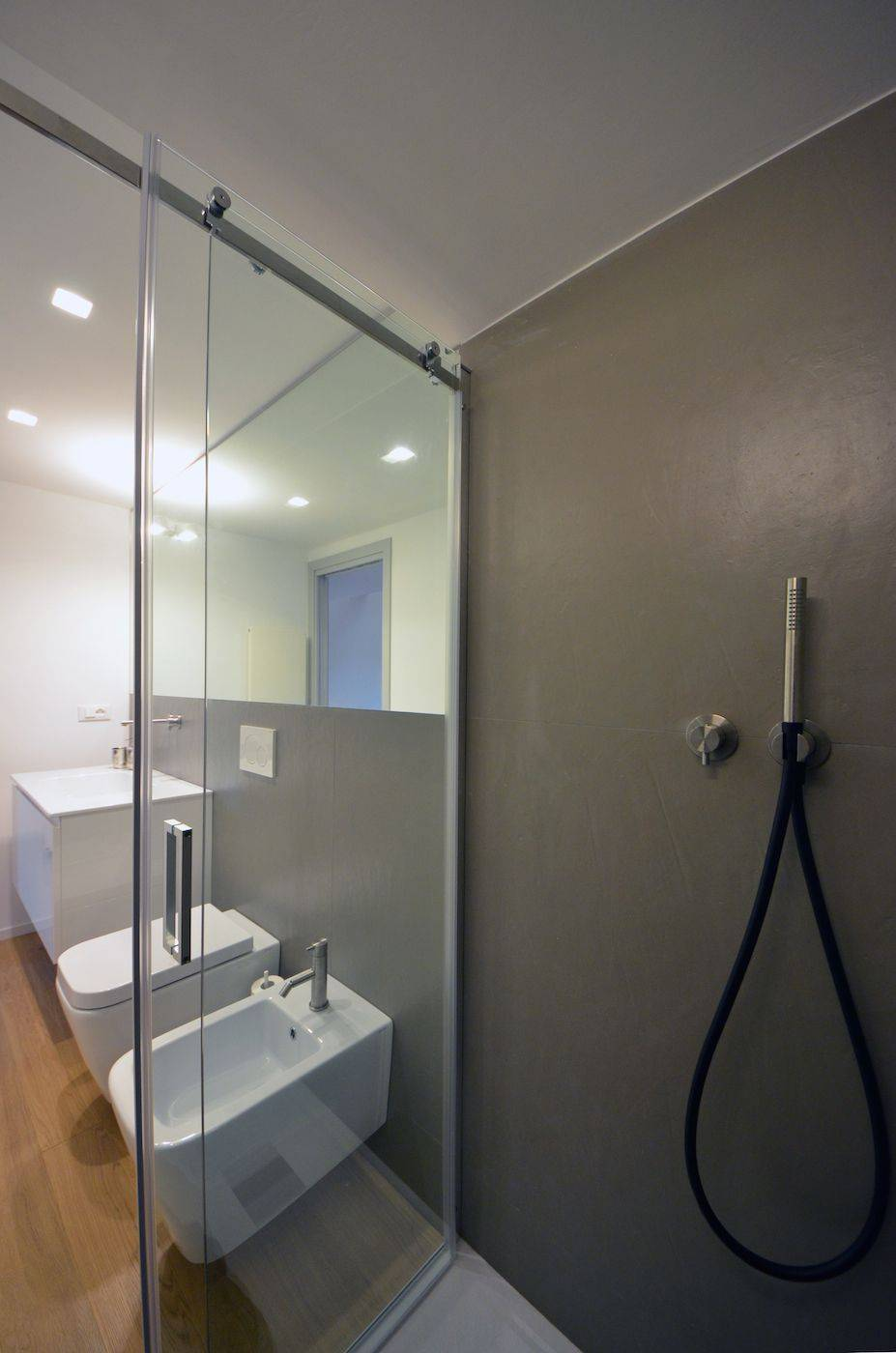 luxury en-suite bathroom with large shower cabin