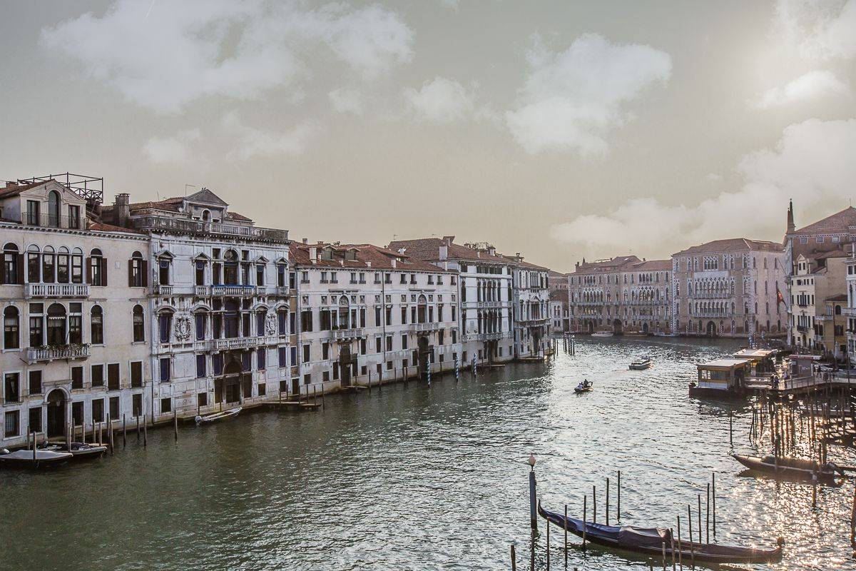 amazing Grand Canal view from the balcony of the Serenissima