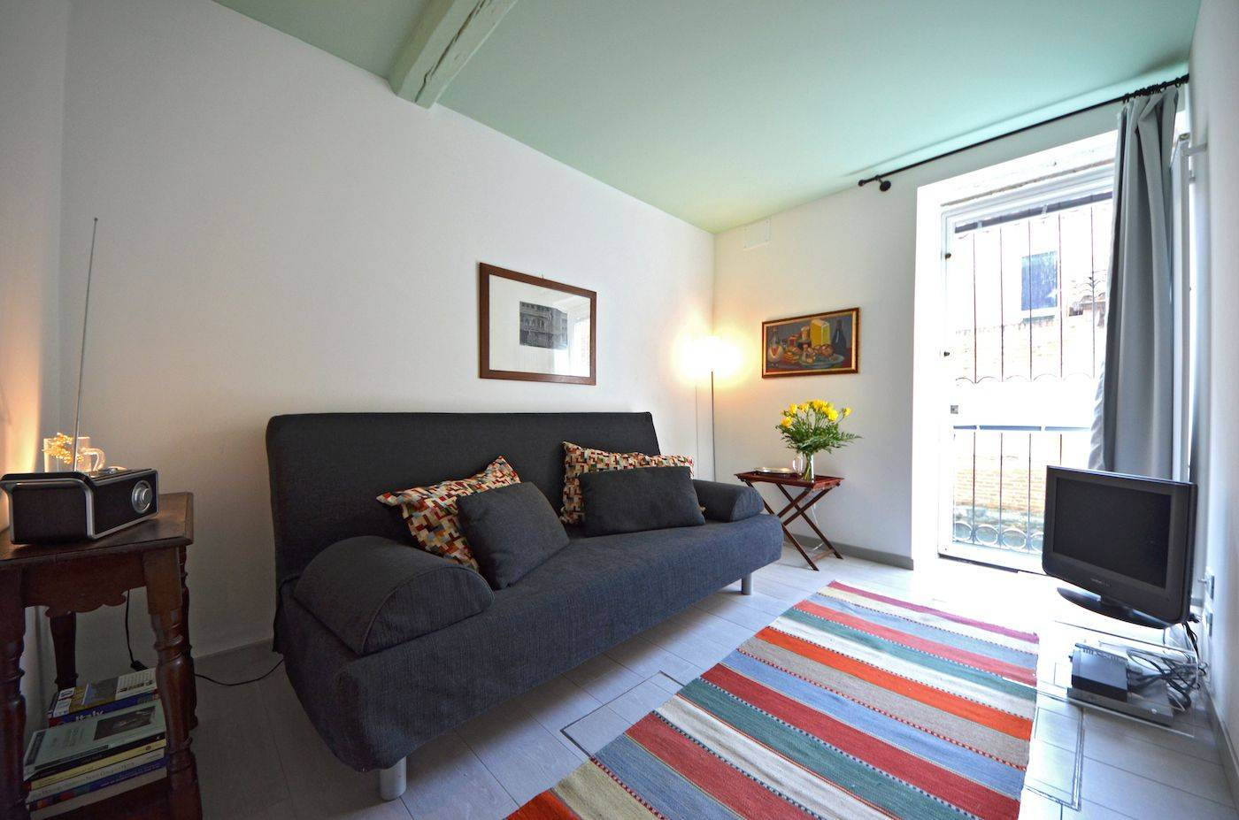 second bedroom with comfortable and thick double sofa-bed