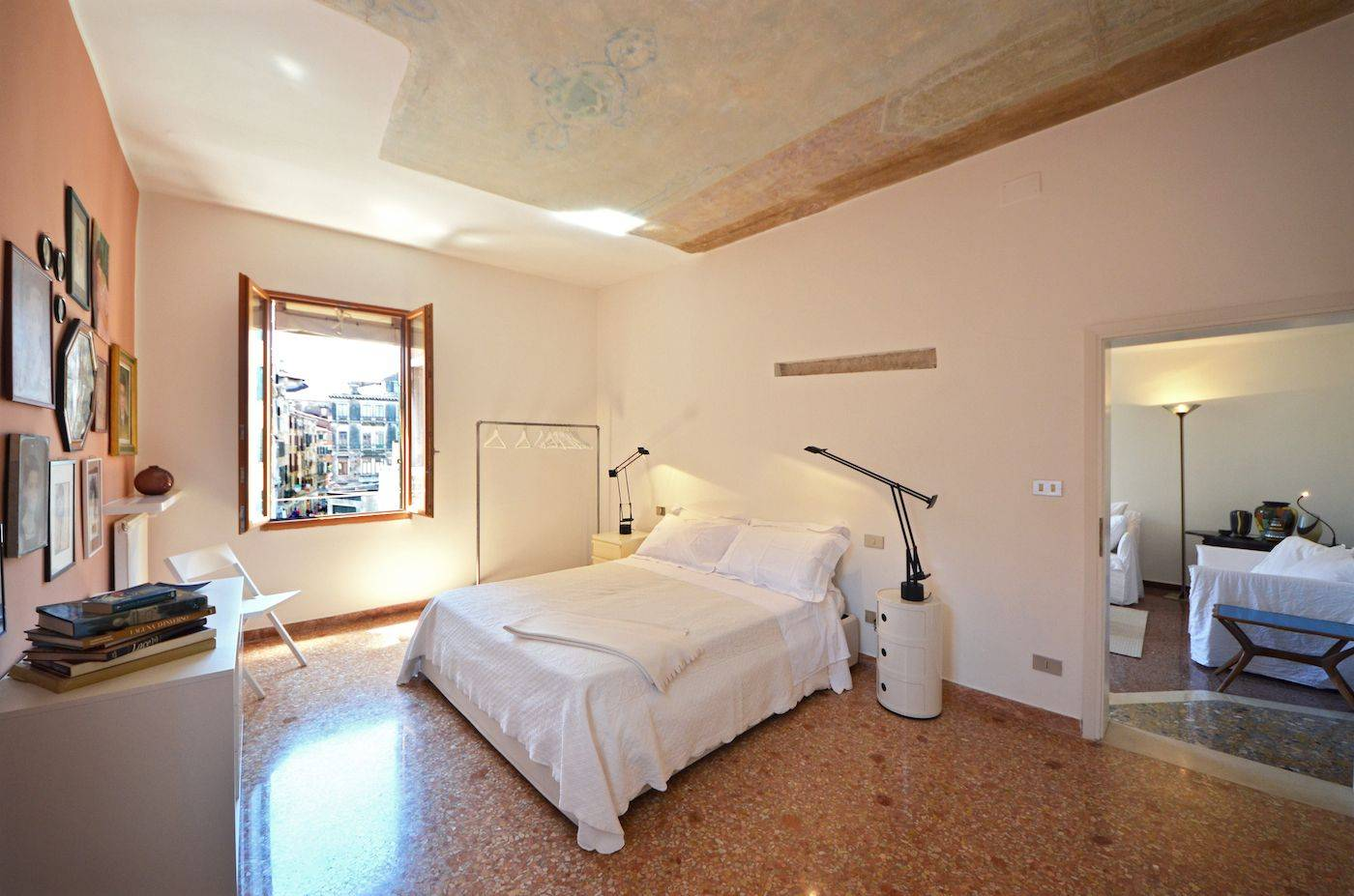 spacious master bedroom with view