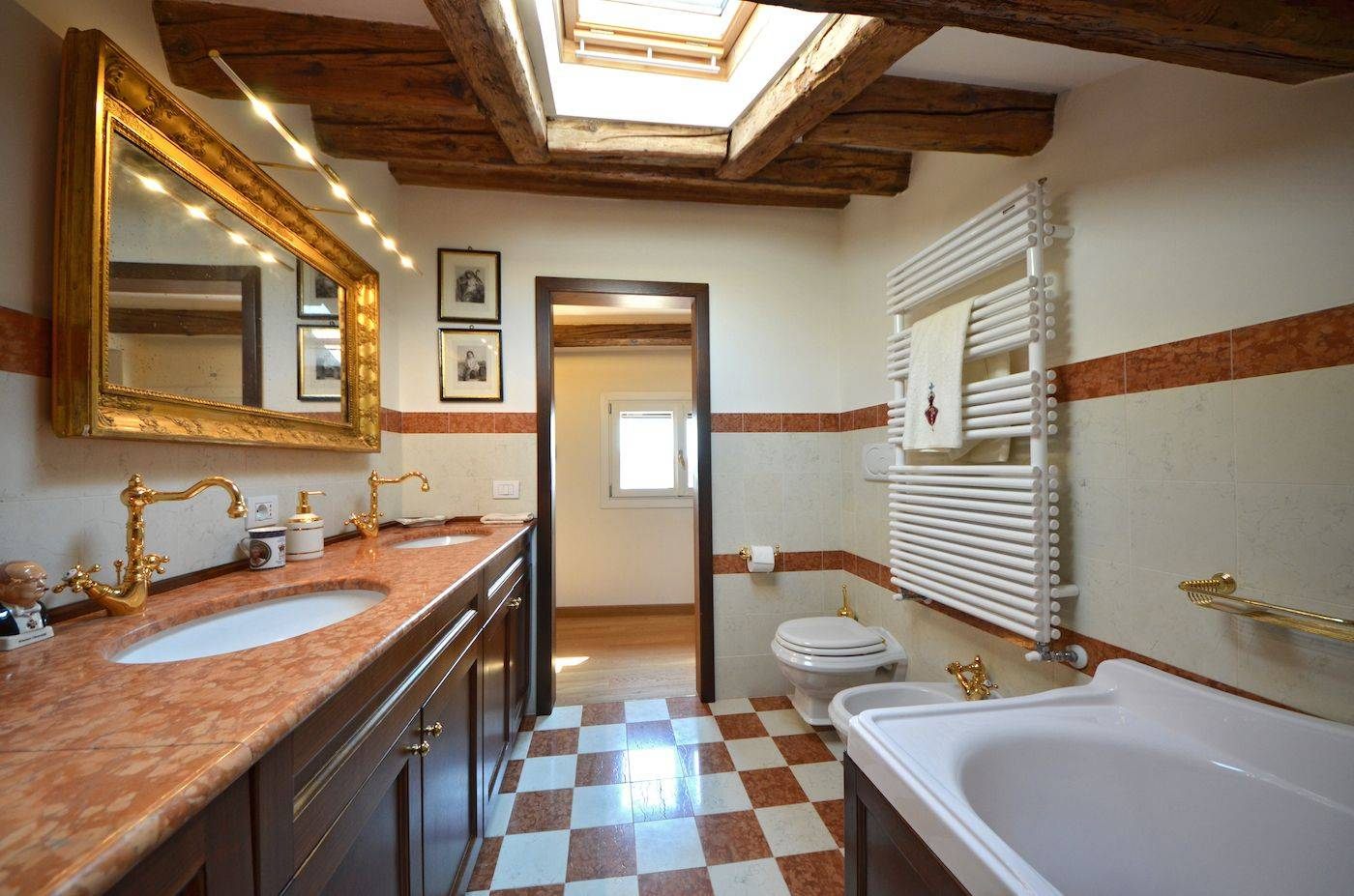 brand new and very functional bathroom with tub