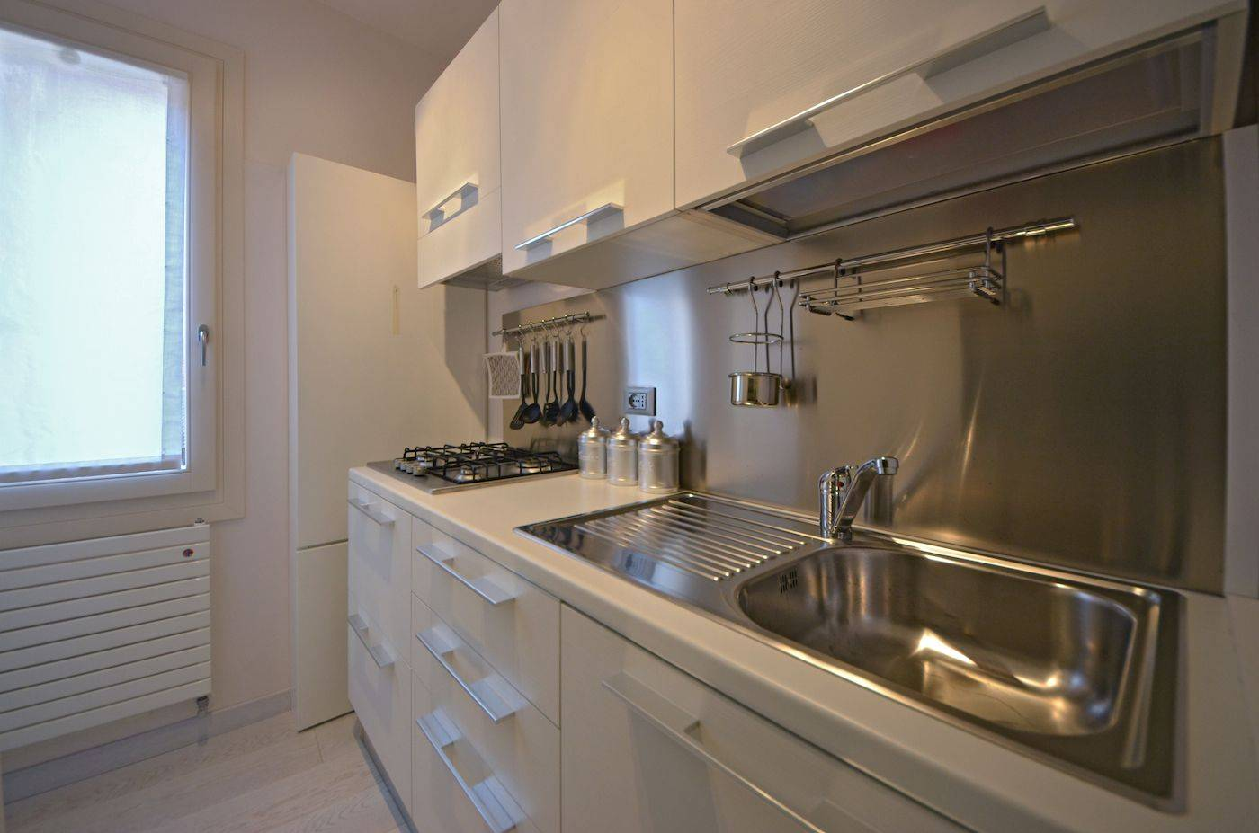 compact but fully functional kitchen