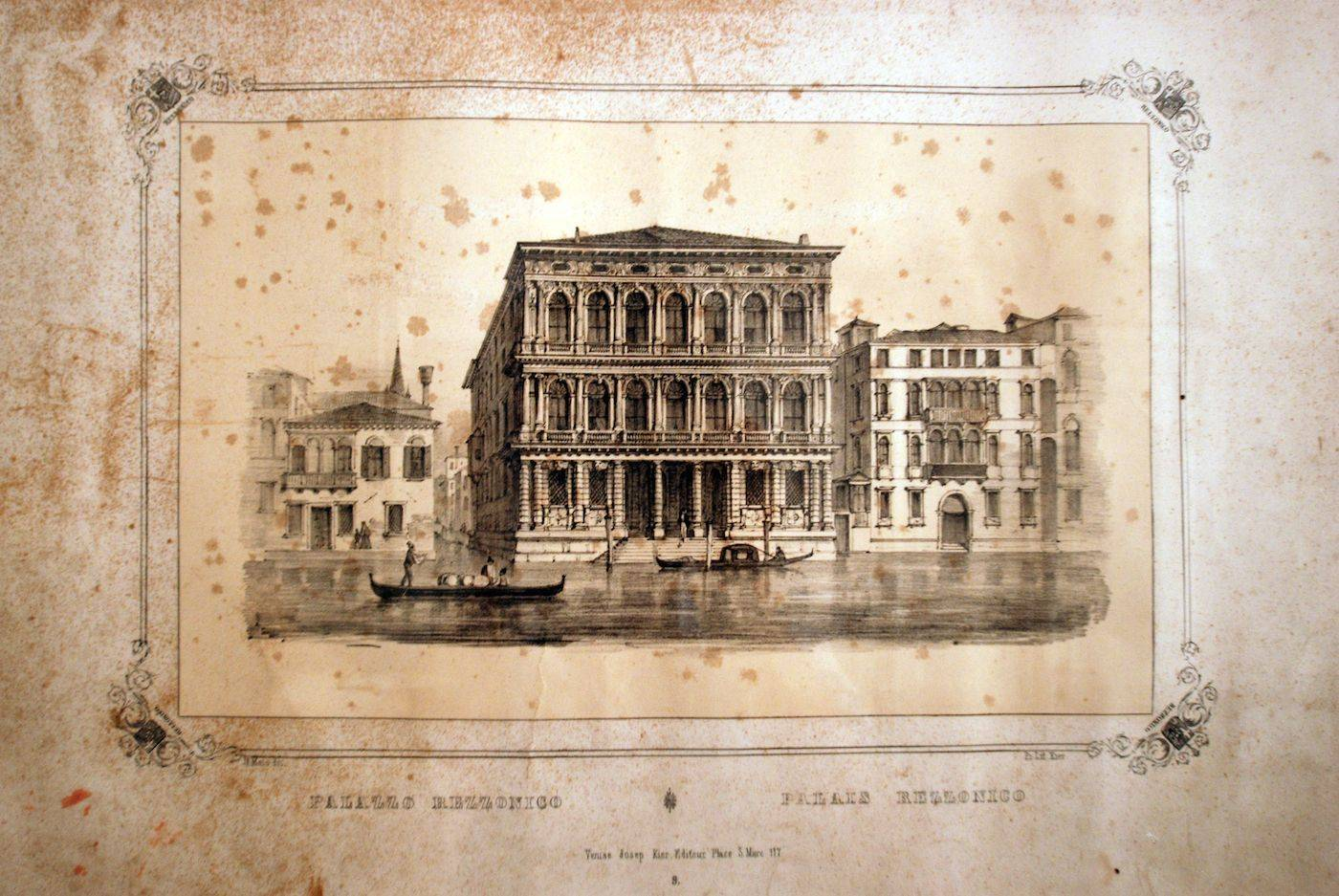 the Palazzo pictured in a old print