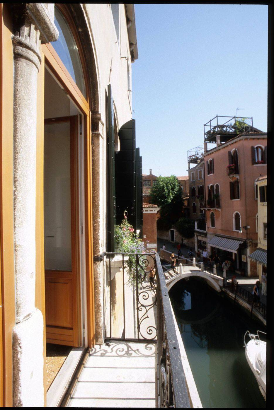 enjoy the truly Venetian canal view from the balcony