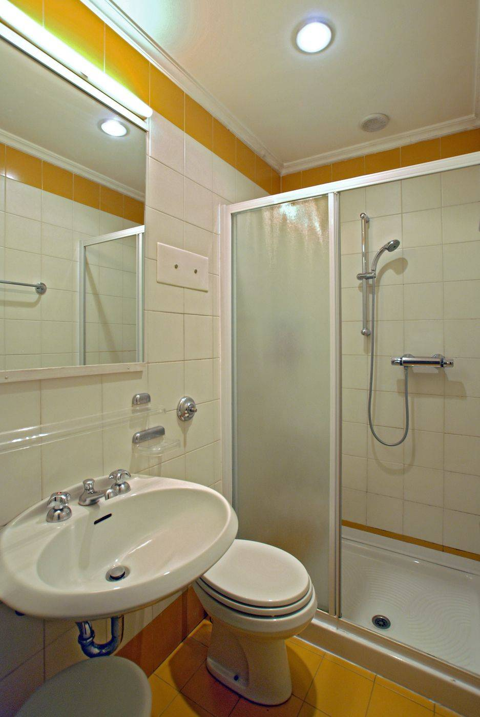 the bathrooom with shower