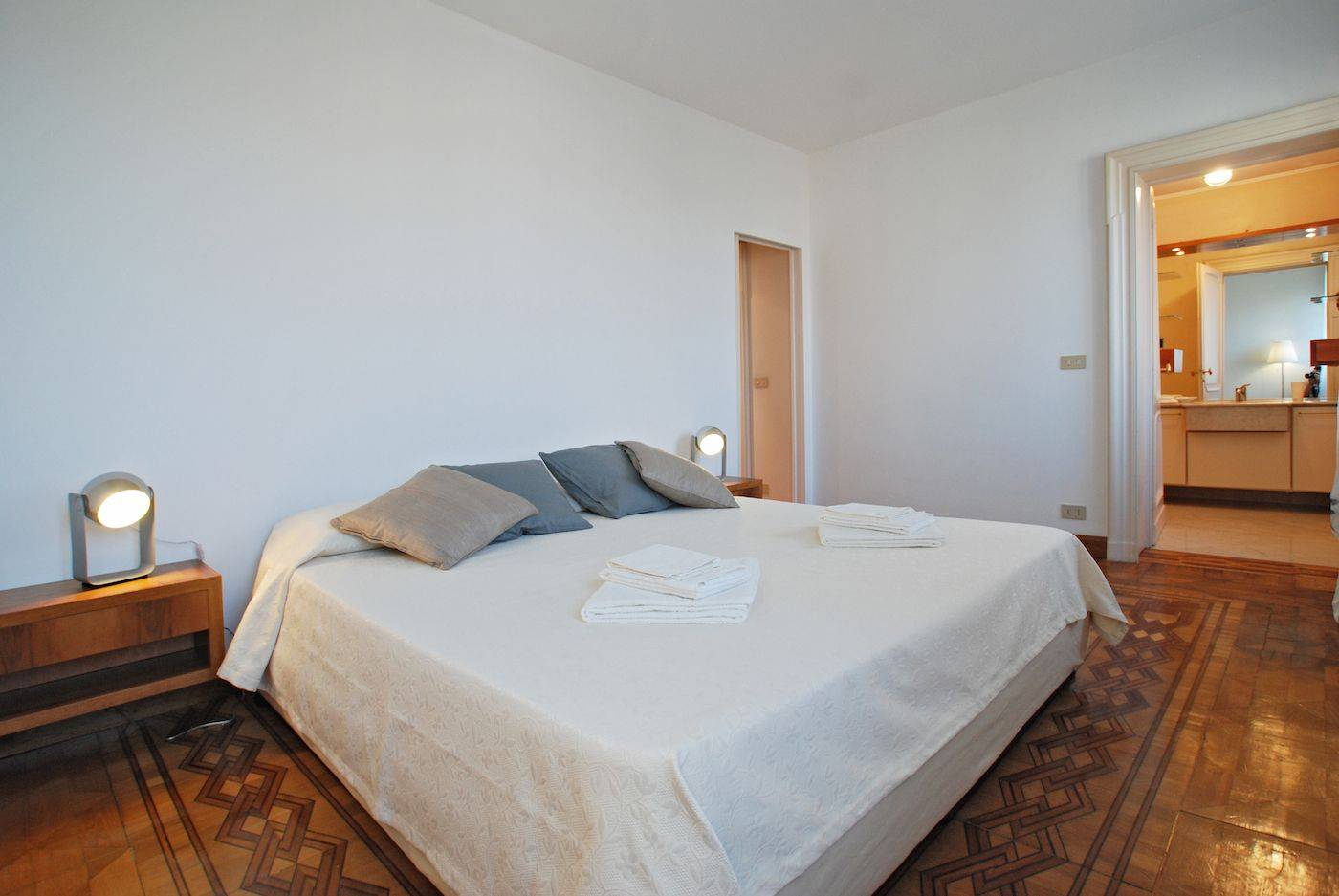 master bedroom with en-suite bathroom and walk-in wardrobe
