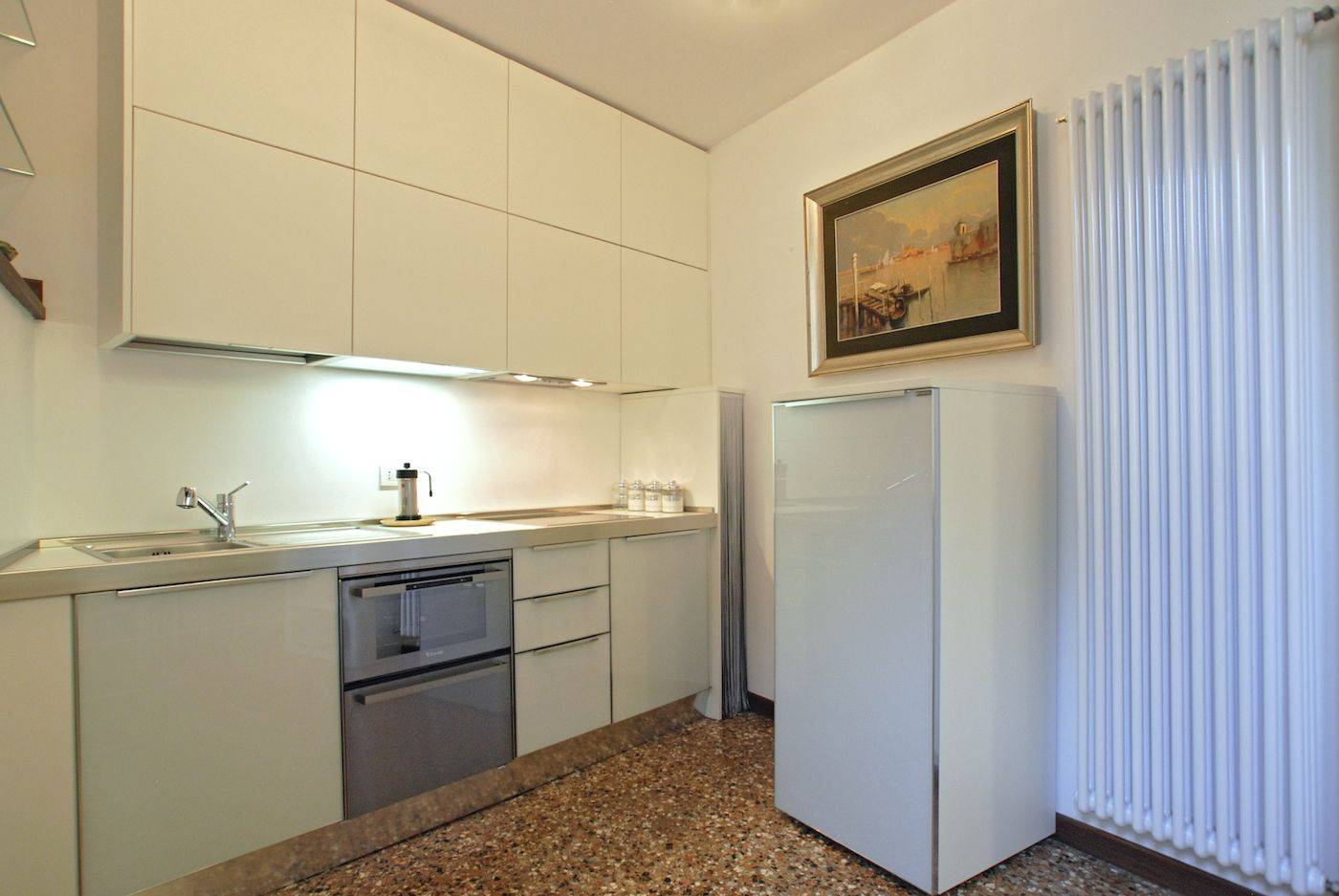 a well equipped and functional kitchen