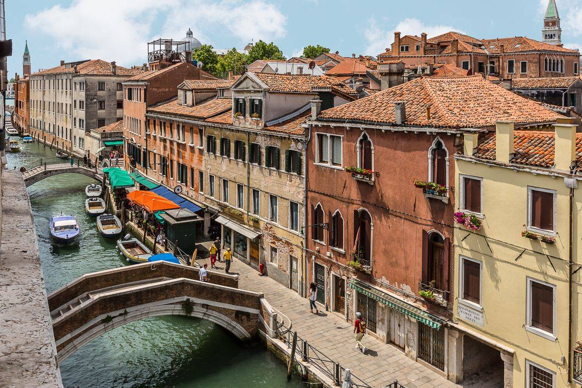 the panoramic canal view from the many windows is truly Venetian