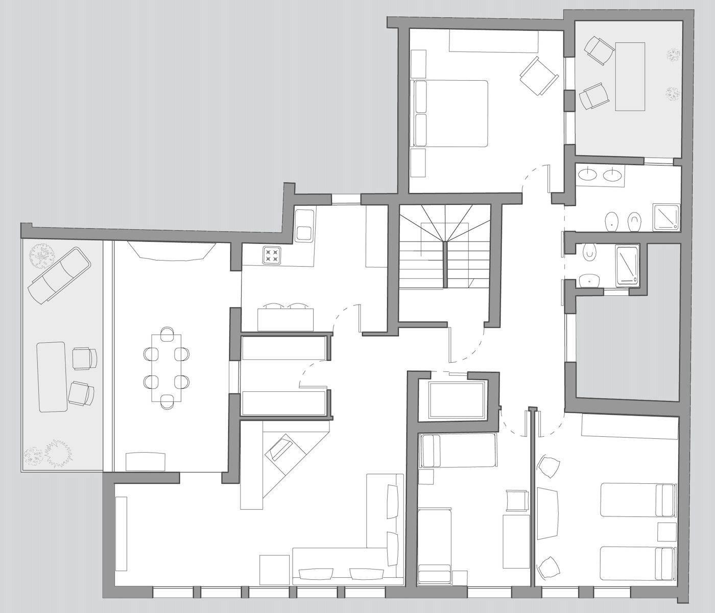 Cà Pesaro Terrace floor plan