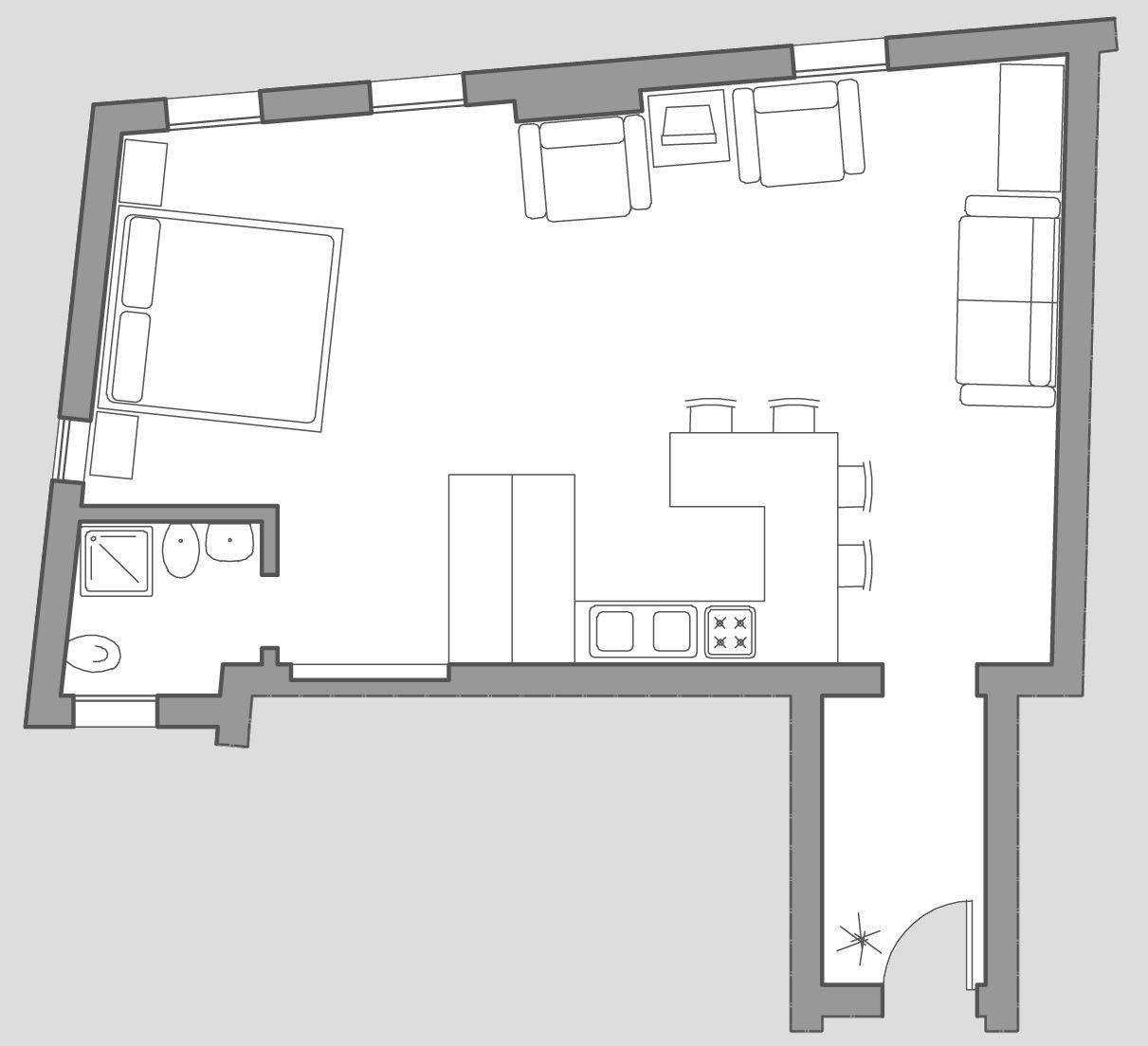 Greci Studio floor plan