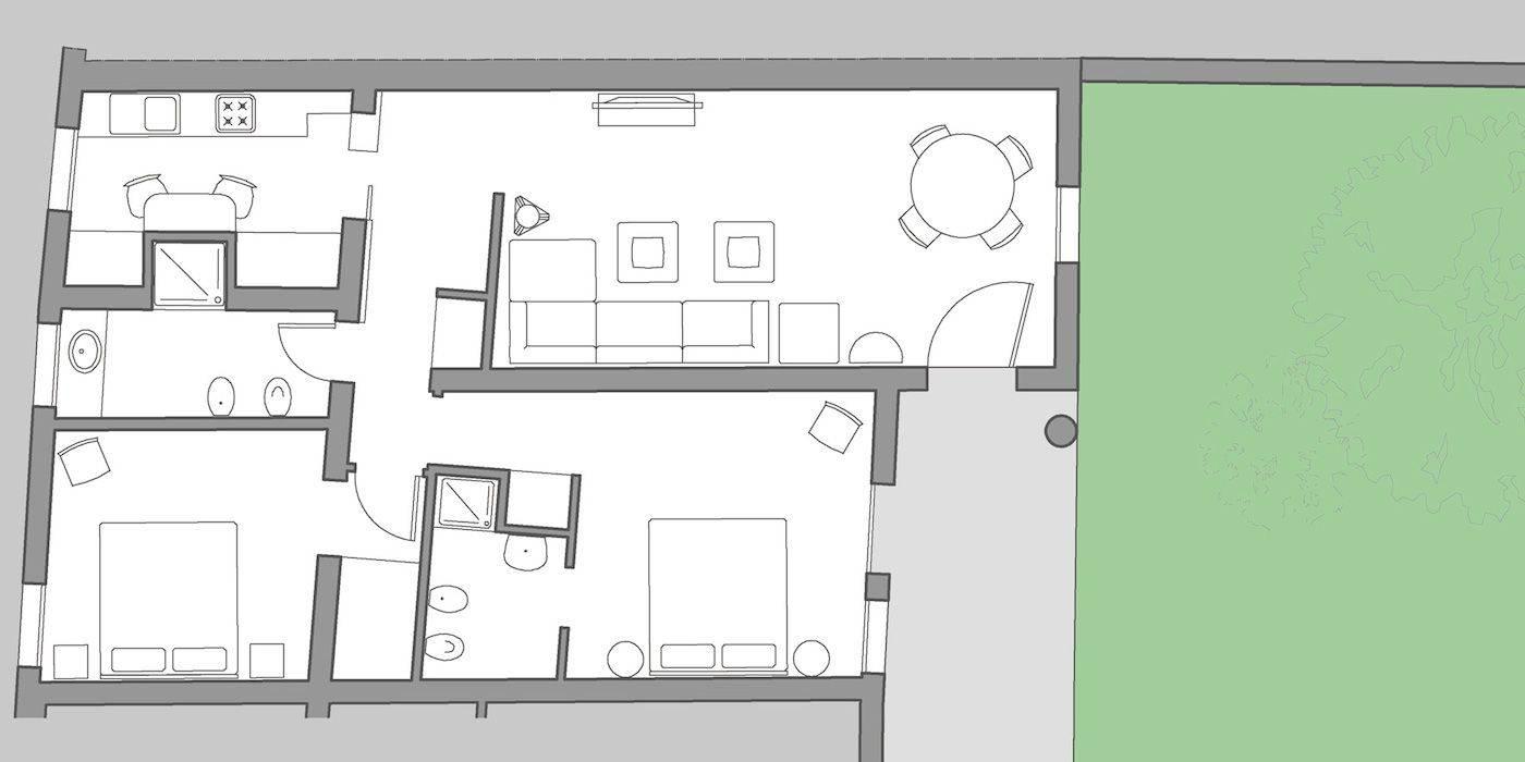 Palladio Garden floor plan
