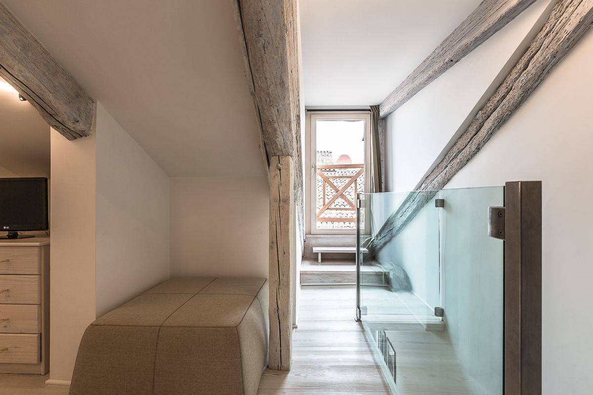 bedroom 3 with access to the roof-top terrace