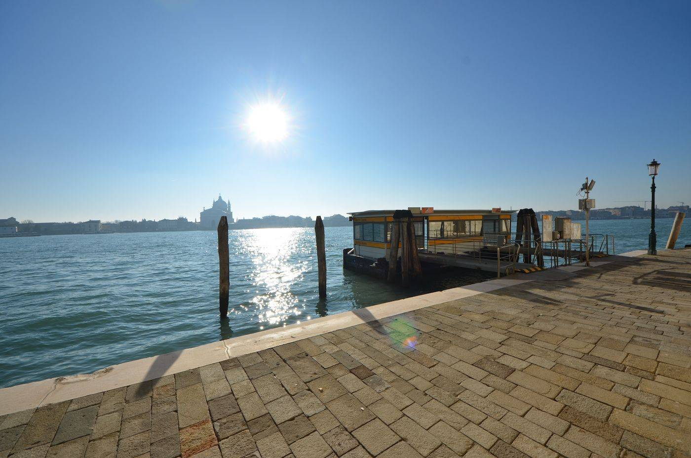 view from the Palladio apartment on the Giudecca Canal
