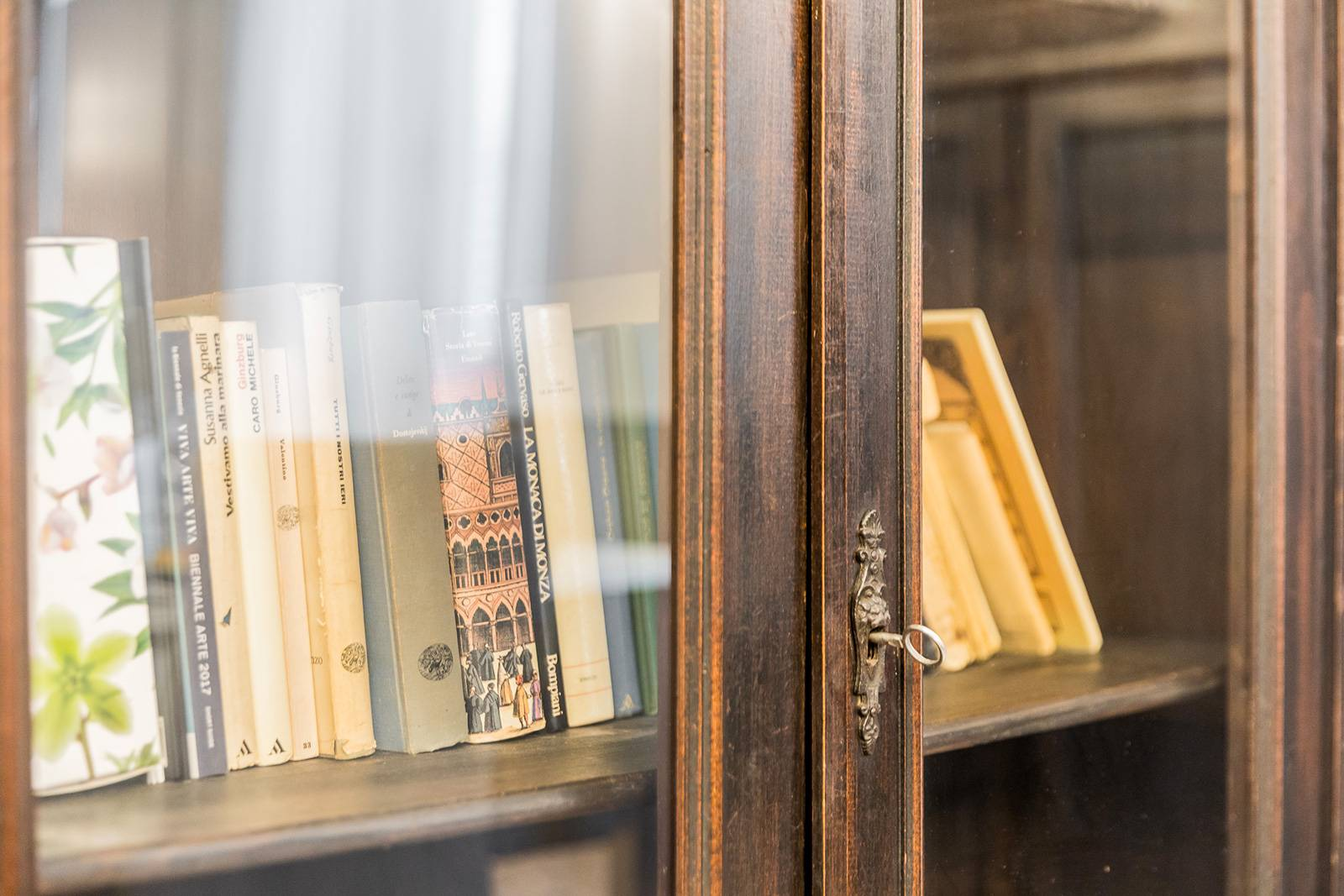 there are plenty of books in the antique library