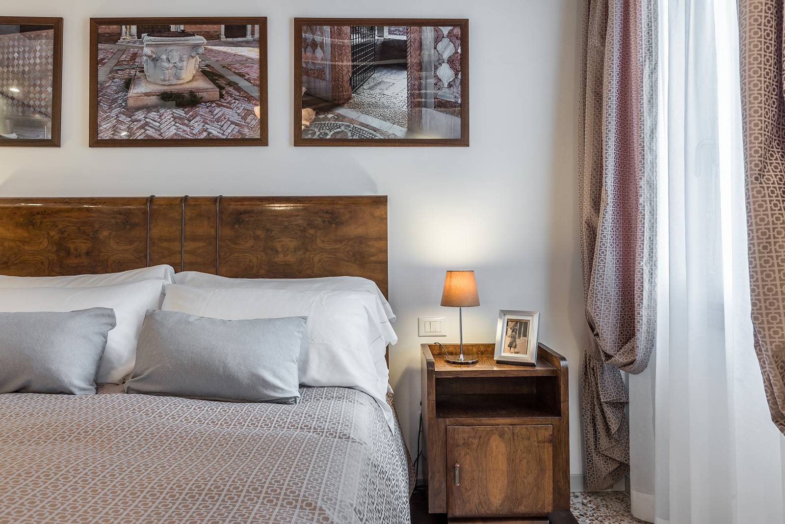 refined textiles and antique furniture confer a welcoming atmosphere