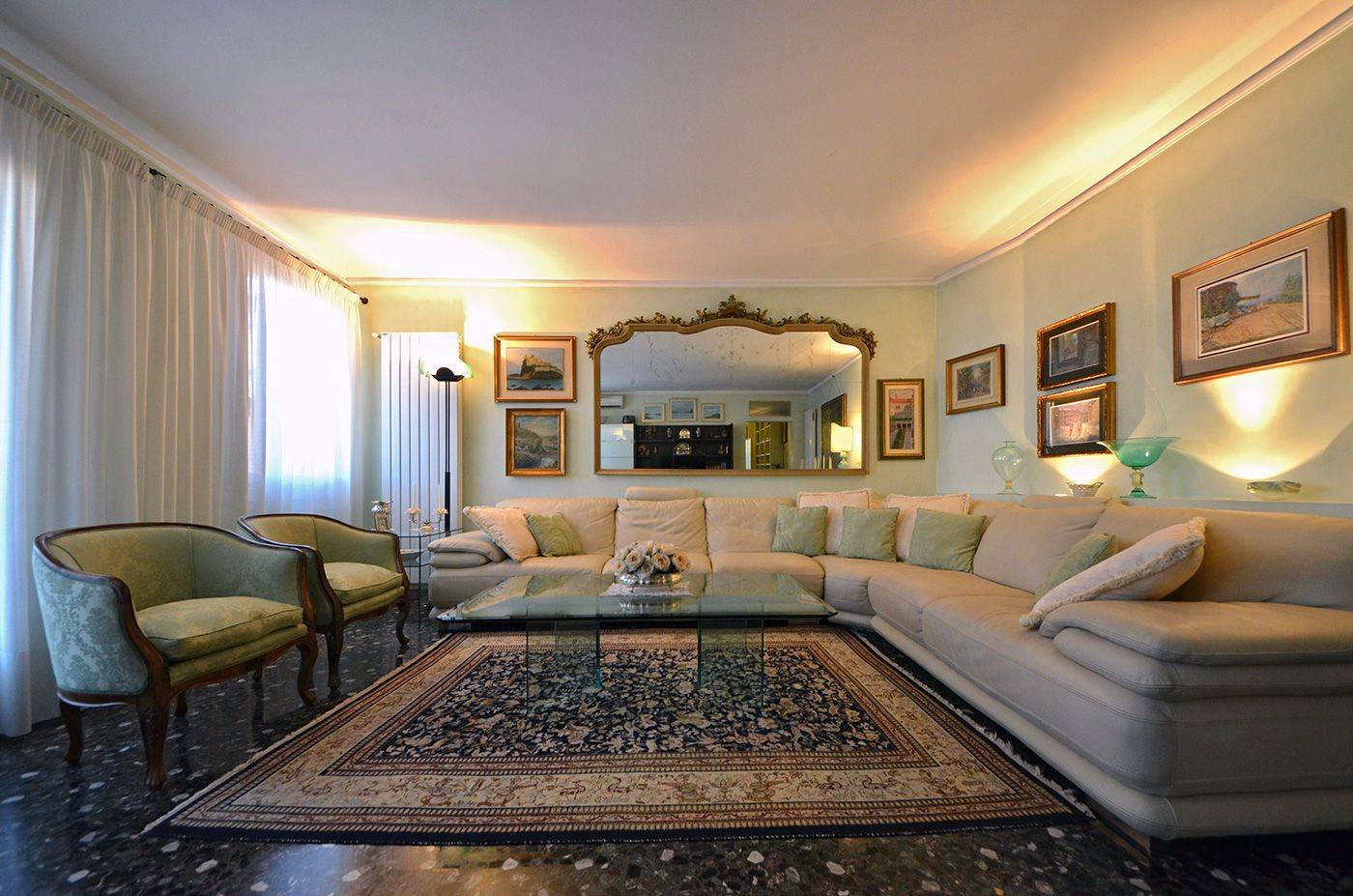 the living room is comfortable and spacious besides being elegant