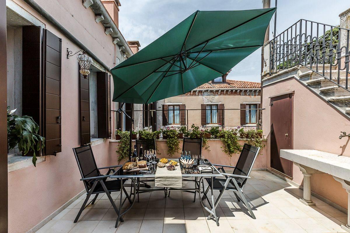 take advantage of the beautiful shared terrace