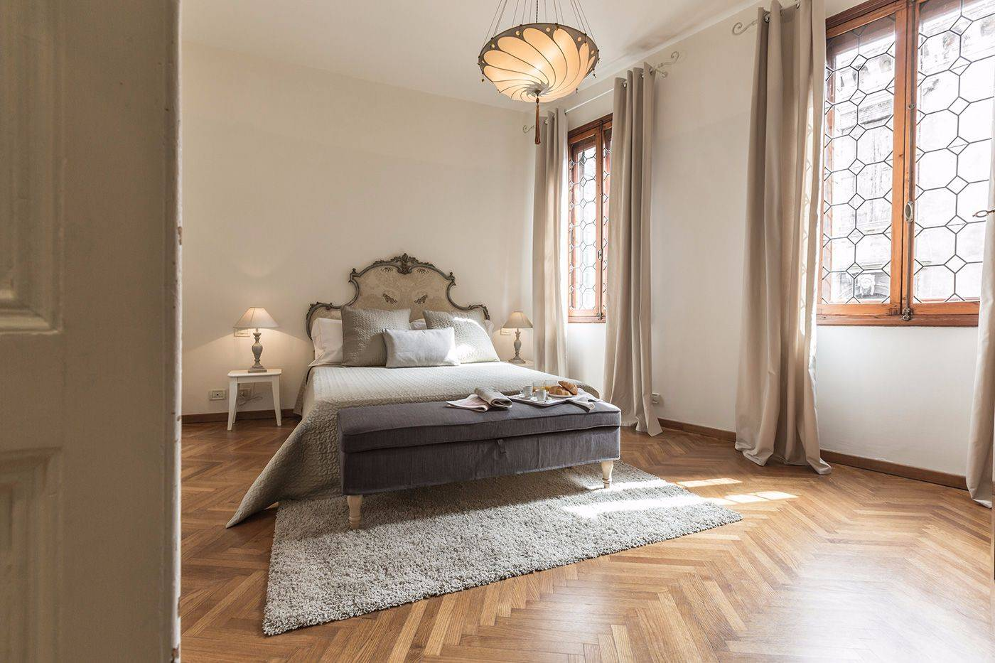 the master bedroom is very spacious and elegant