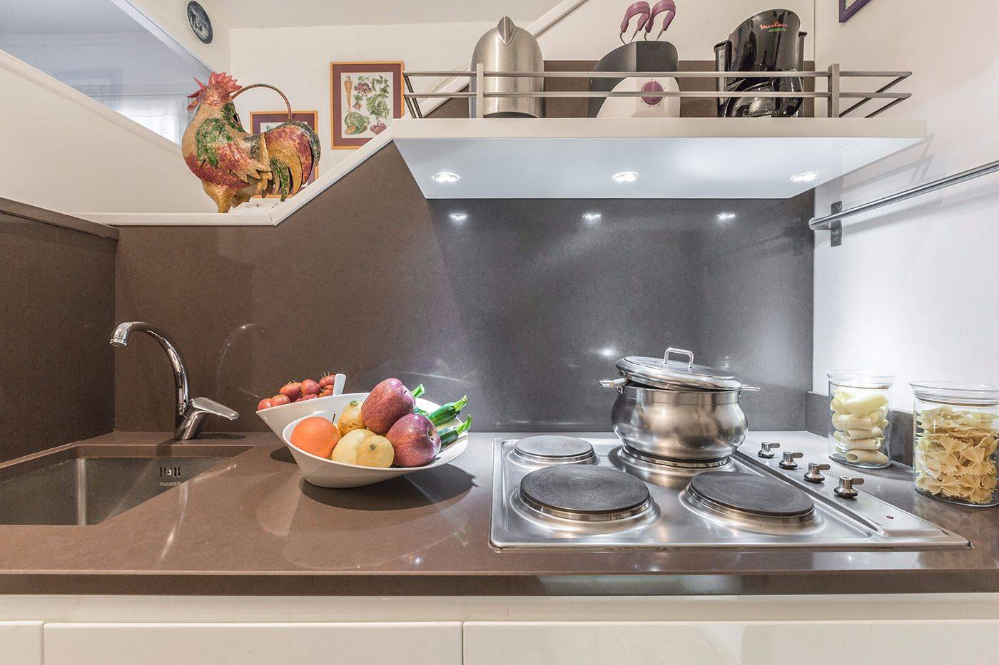 brend new and well equipped kitchen