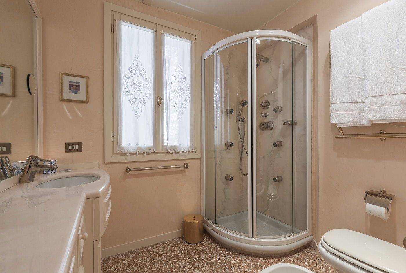 with large shower cabin