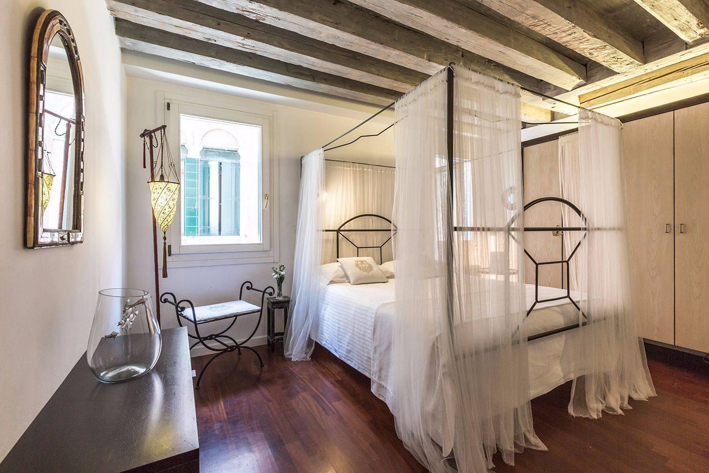 the master bedroom is very romantic