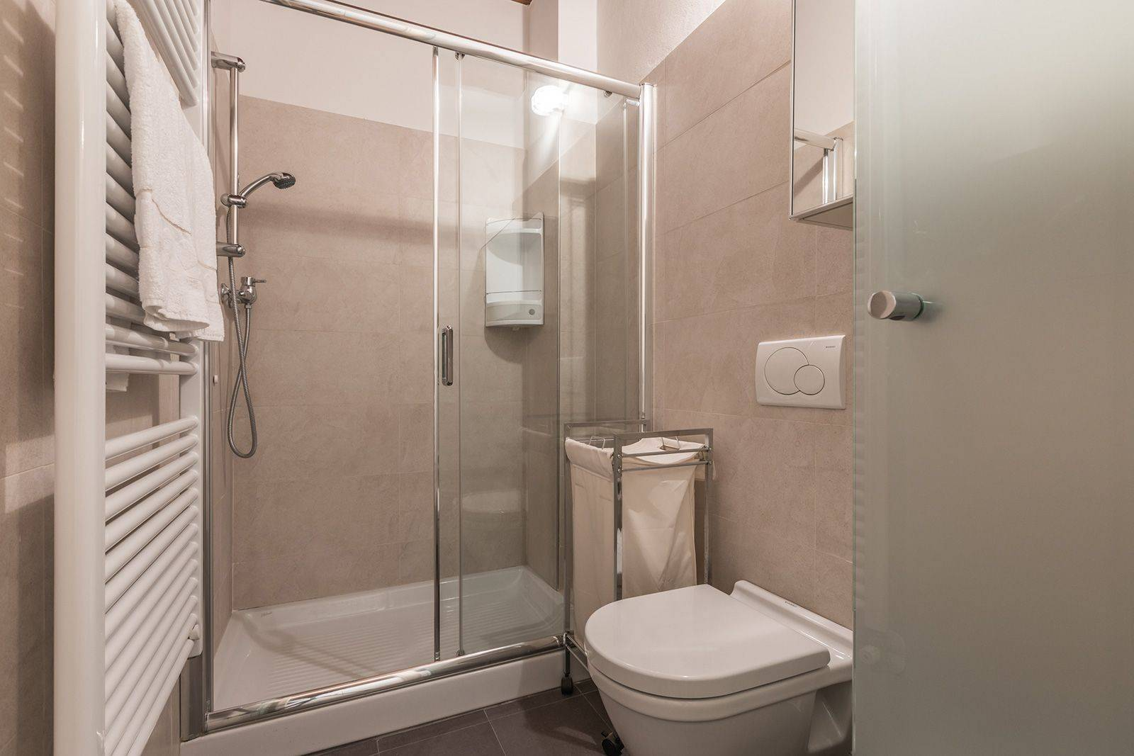 luxury bathroom with large shower cabin