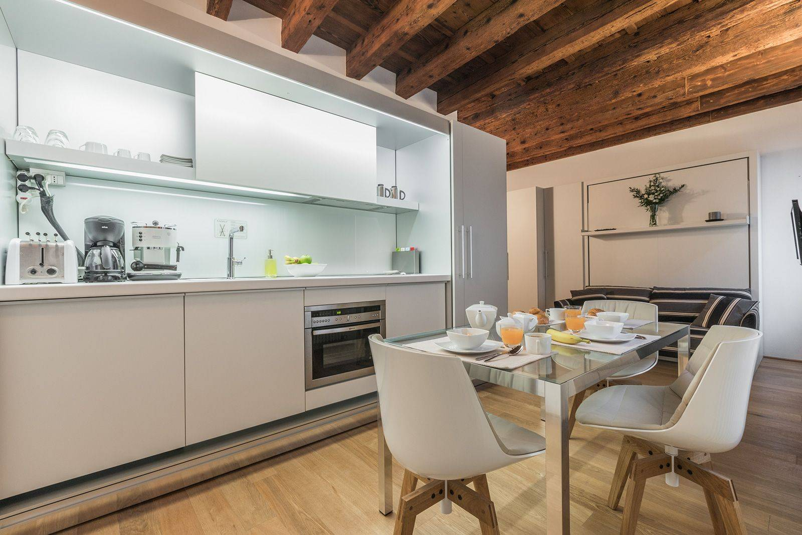 it is a designer apartment with high-tech amenities