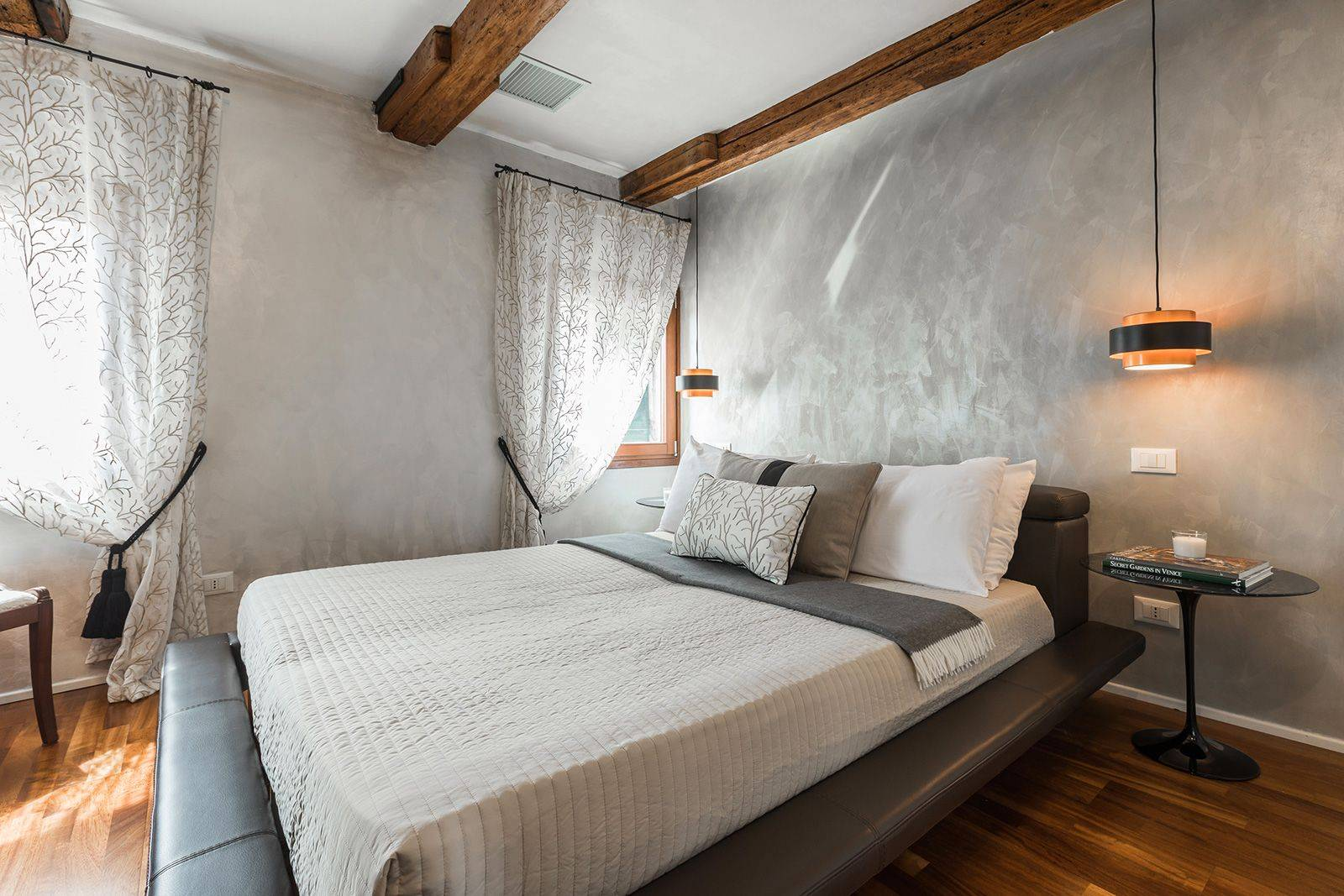 there is a beautiful double bedroom