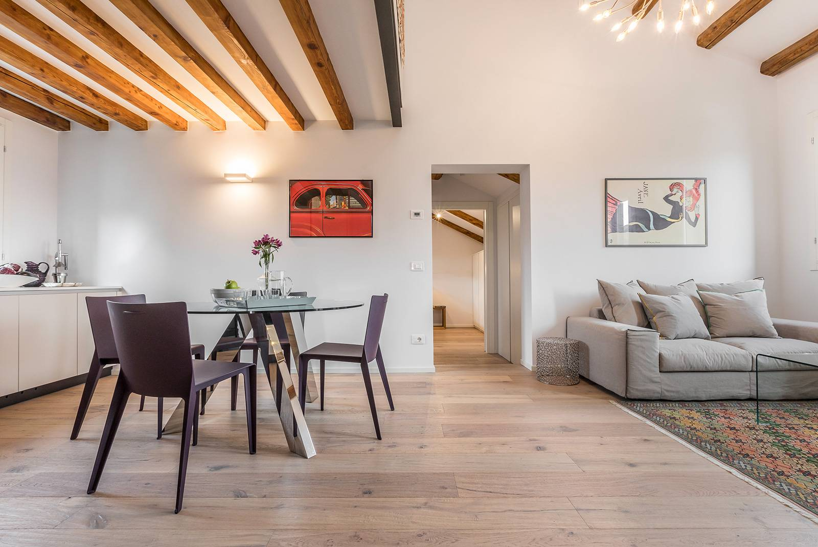 the San Trovaso Terrace is a stylish brand new apartment with designer interiors
