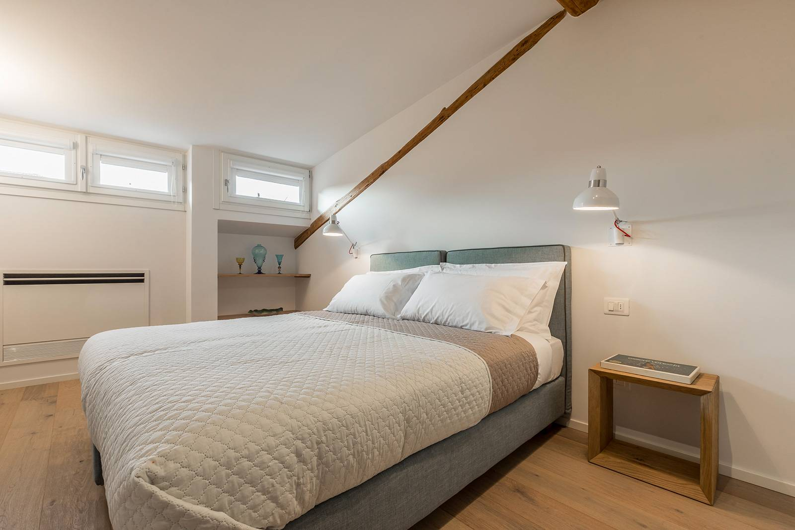 the second bedroom can be used as double or two single beds, on request