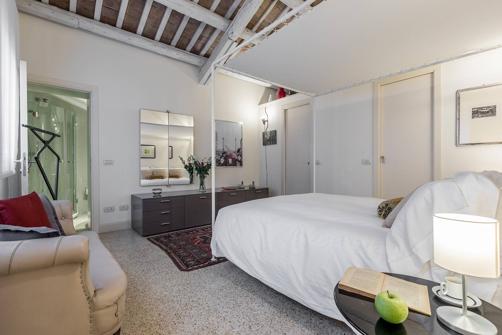 the main bedroom with en-suite bathroom is very spacious and well furnished