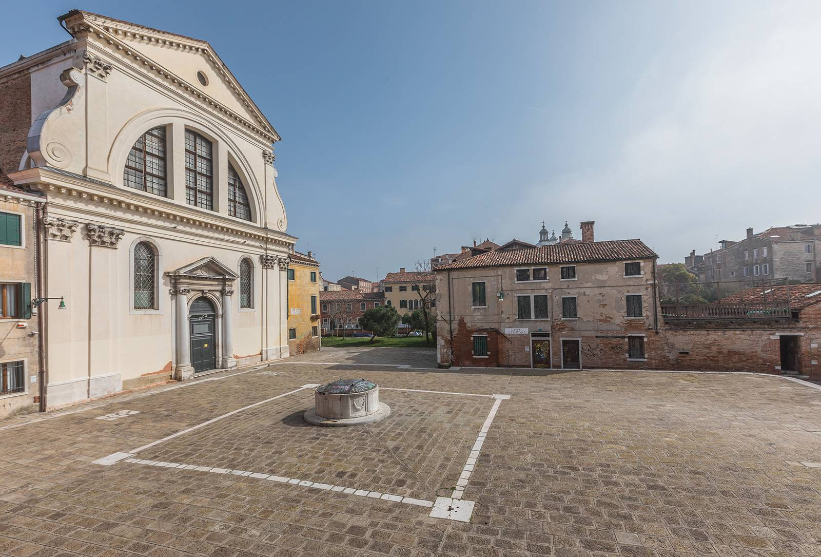 view from on San Trovaso Church, Square and Canal