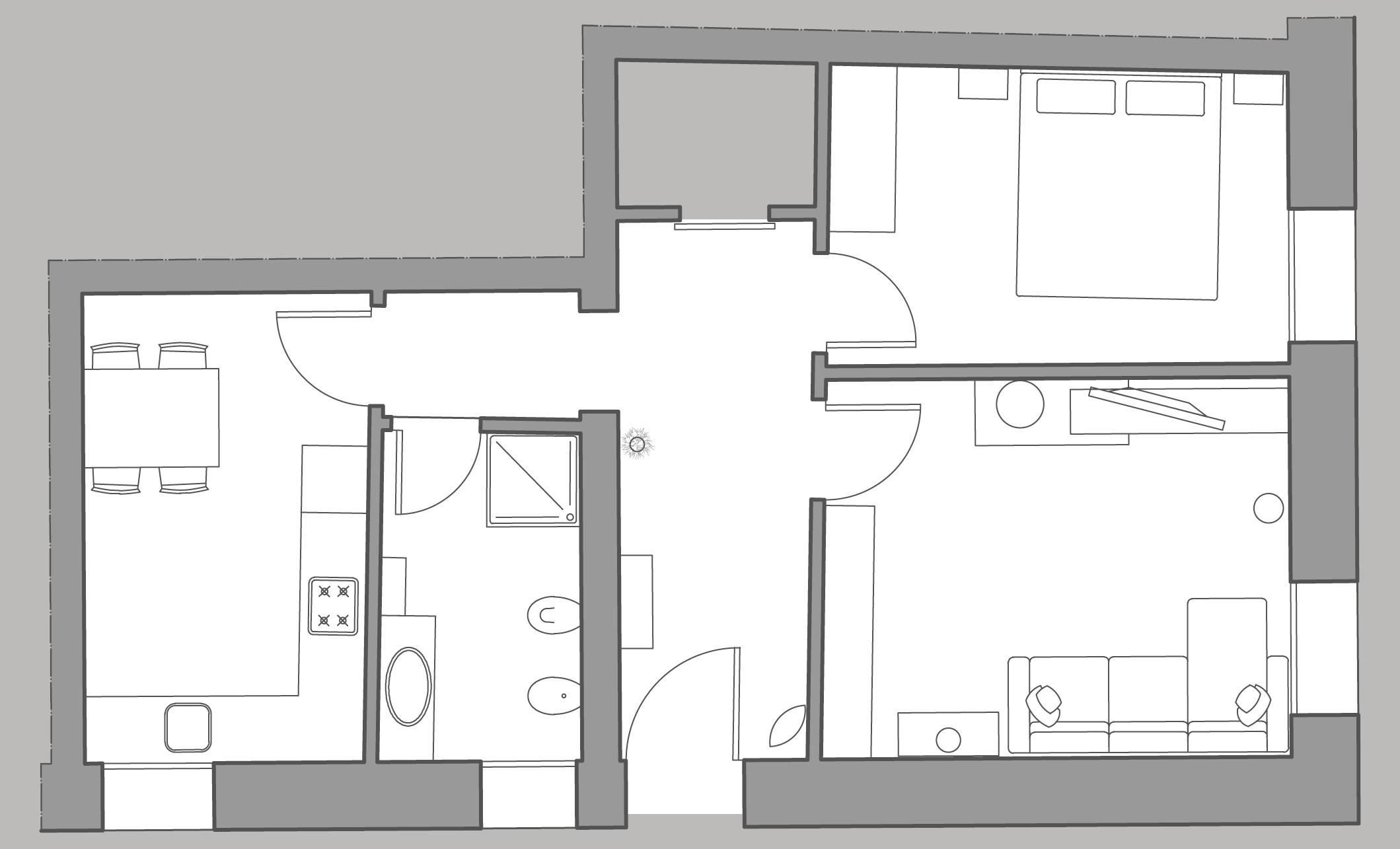 Cà Pesaro Suite floor plan