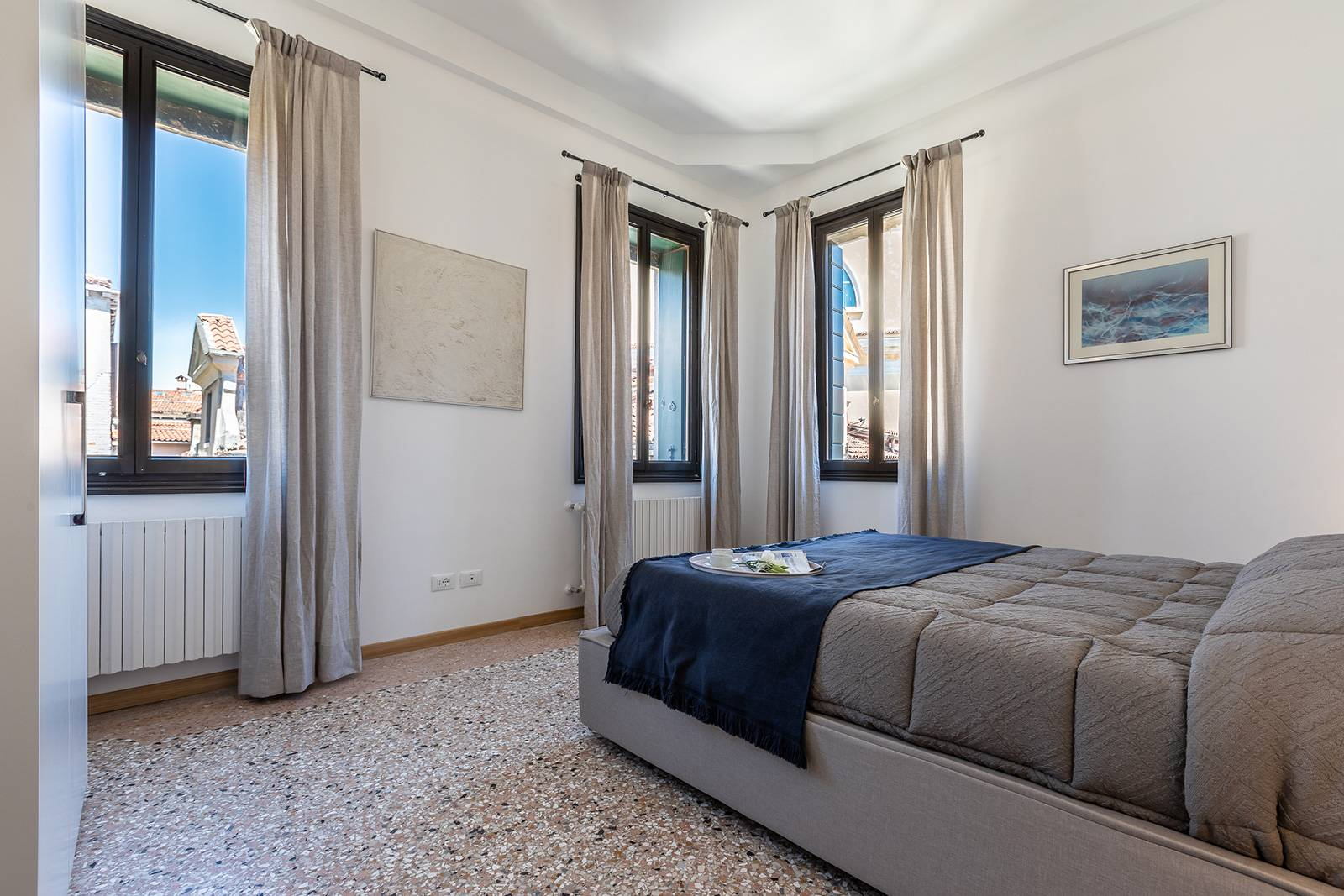 1st double bedroom with stunning canal view