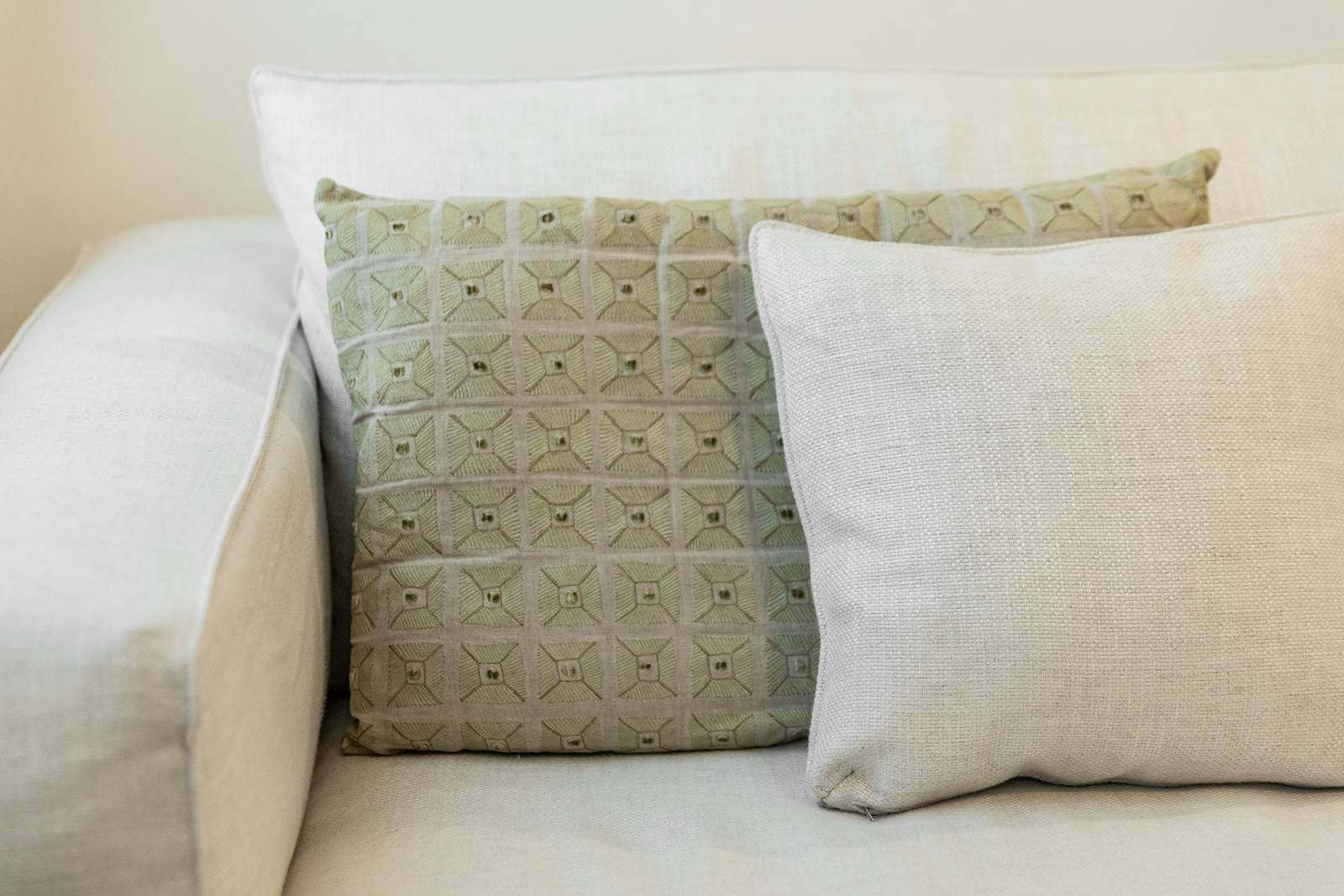refined fabrics have been used for the interior design