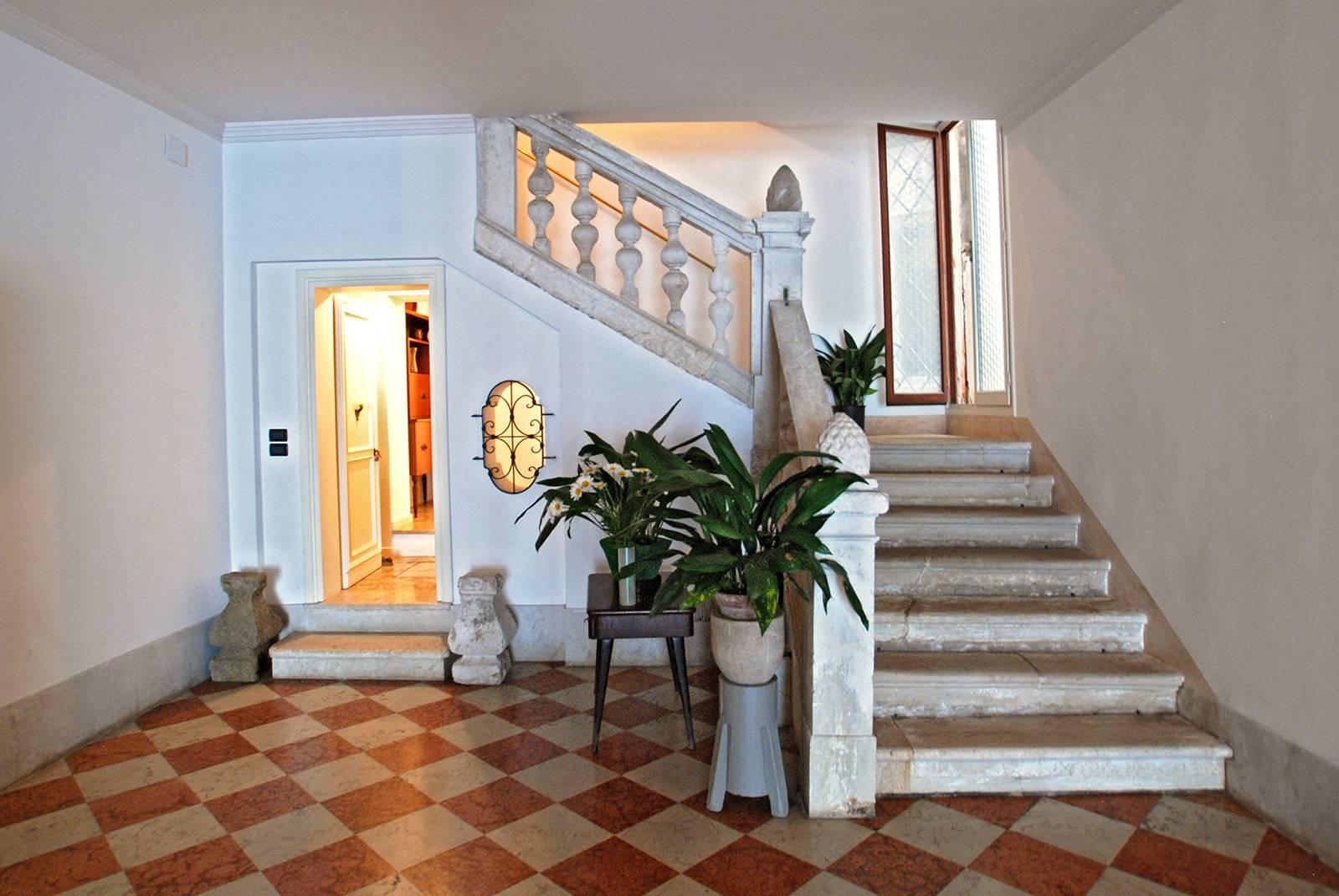 entrance to the Rezzonico Palace