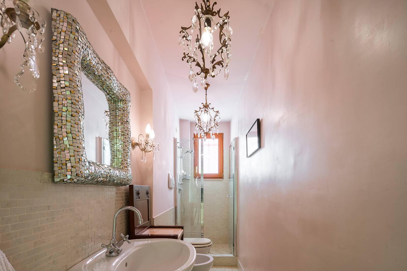 bathroom with nice shower cabin